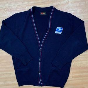 Vintage USPS Post Office Cardigan Sweater Large